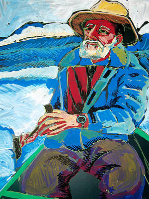 Painting - Old Man And The Sea by Doris  Lane Grey