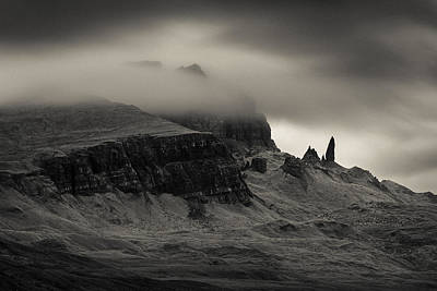 Overcast Photograph - Old Man And The Storr by Dave Bowman