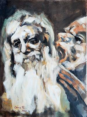 Painting - Old Men And Their Demons by Christel Roelandt