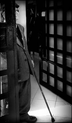 Old Man At The Door Print by Daniel Gomez