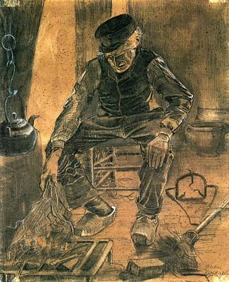 Painting - Old Man At The Fireside by Vincent Van Gogh