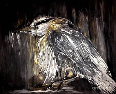 Painting - Old Man Bird by Crystal Schaan
