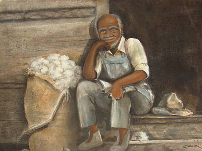 Black History Painting - Old Man Cotton by Charles Roy Smith