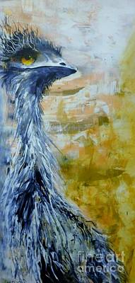 Painting - Old Man Emu by Lyn Olsen