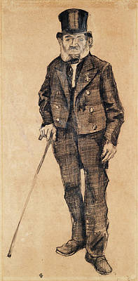 Hallucination Painting - Old Man In A Tailcoat, 1882 by Vincent Van Gogh