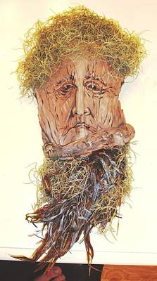 Palm Trees Mixed Media Mixed Media - Old Man In A Tree by Ellen Burns