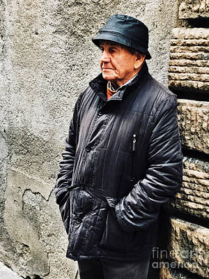 Photograph - Old Gentleman In Italy by Femina Photo Art By Maggie