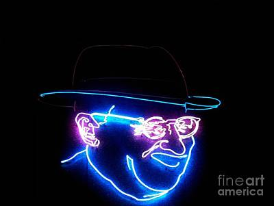 Photograph - Old Man In Neon 3 by Kelly Awad