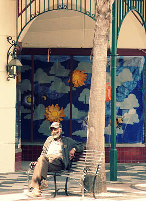 Photograph - Old Man In The Sun by Rose  Hill