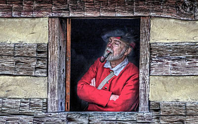 Cabin Window Digital Art - Old Man In Window by Randy Steele