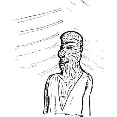 Old Man Art Print by Karl Addison