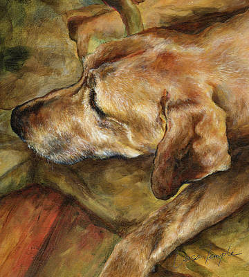Rhodesian Ridgeback Painting - Old Man by Leisa Temple