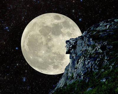 Photograph - Old Man / Man In The Moon by Larry Landolfi