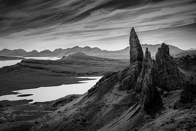 Old Western Photograph - Old Man Of Storr by Dave Bowman