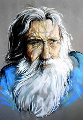 Pastel - Old Man by Ole Hedeager Mejlvang