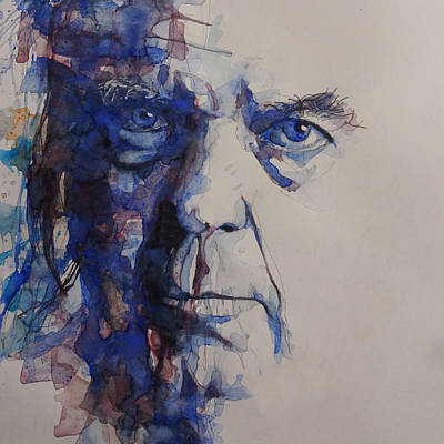 Painting - Old Man - Neil Young  by Paul Lovering