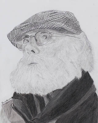 Drawing - Old Man With Beard by Quwatha Valentine