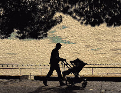 Photograph - Old Man With Pushchair by Alexandre Martins
