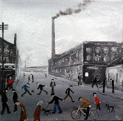 Factory Painting - Old Manchester Mill by Walker Scott British Industrial Northern Art