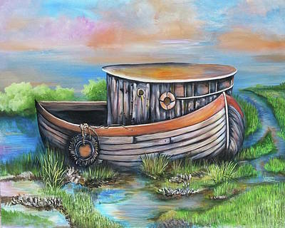 Painting - Old Mans Boat by Virginia Bond
