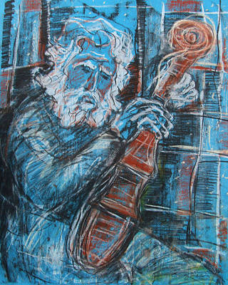 Old Man's Violin Art Print
