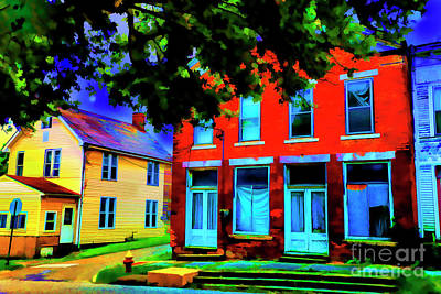 Digital Art - Old Mansions by Rick Bragan