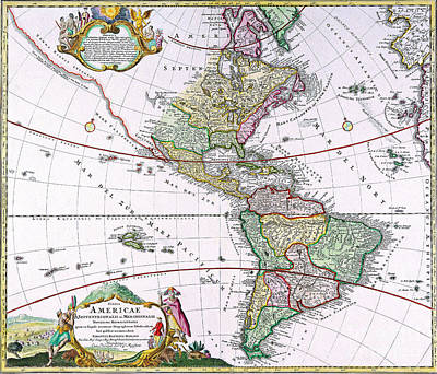 Painting - Old Map Of The Americas by R Muirhead Art