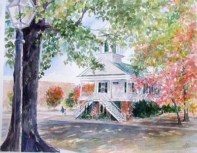Painting - Old Market Hall Cheraw by Gloria Turner