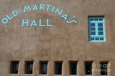 Photograph - Old Martina's Hall - Turquoise Window by Debra Martz