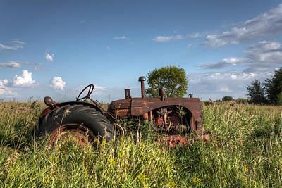 Old Massey-harris Tractor Art Print by Matt Dobson