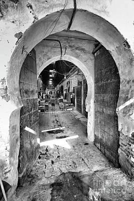 Morocco Photograph - Old Medina Street by Jonathan Wommack