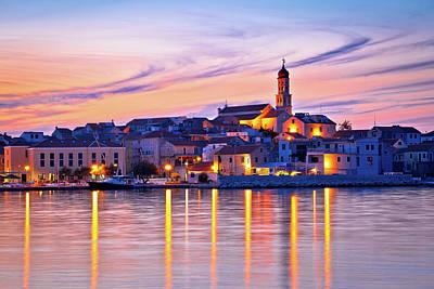 Old Mediterranean Town Of Betina Sunset View Art Print