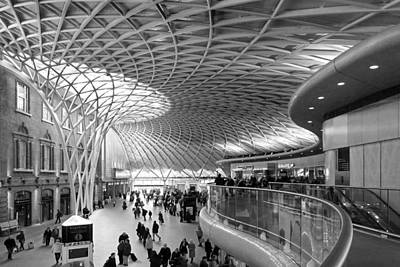 Railway Station Photograph - Old Meets New At Kings Cross Station London by Gill Billington