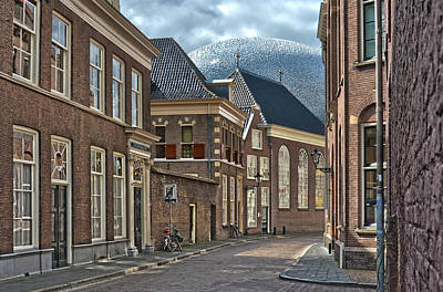 Old Meets New In Zwolle Art Print