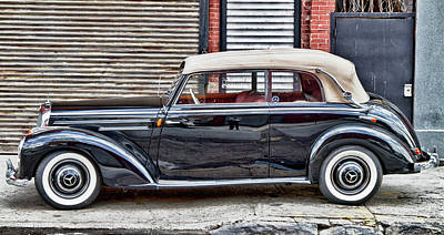 Photograph - Old Mercedes Profile Shot by Val Black Russian Tourchin
