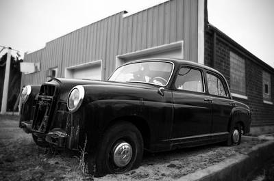 Photograph - Old Mercedes Sitting At The Shop by Janice Adomeit