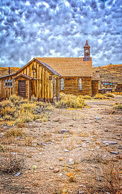 Photograph - Old Methodist Church Bodie California by LeeAnn McLaneGoetz McLaneGoetzStudioLLCcom