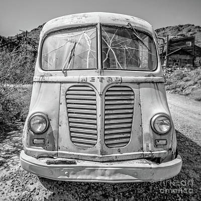 Photograph - Old Metro Delivery Truck In The Desert by Edward Fielding