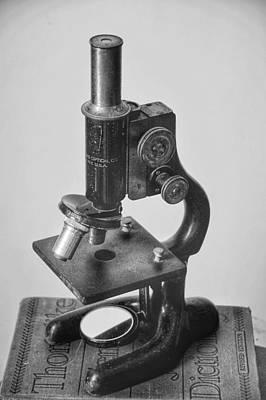 Photograph - Old Microscope  by Susan Bordelon