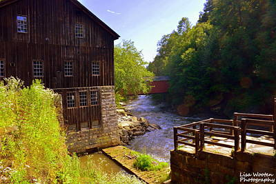 Photograph - Old Mill And Covered Bridge At Mcconnells Mill State Park Pa by Lisa Wooten