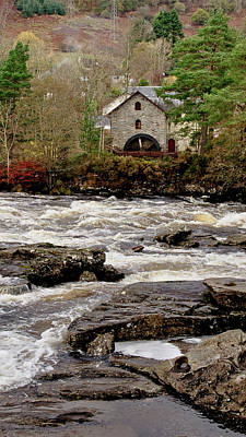 Photograph - Old Mill At Dochart Waterfalls by Elena Perelman