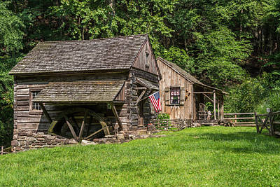 Old Mills Photograph - Old Mill Cuttalossa Farm Pennsylvania by Terry DeLuco