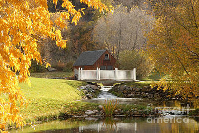Old Mill In Autumn Art Print by Dennis Hammer