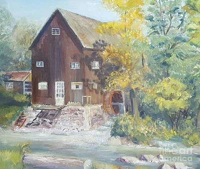 Grist Mill Painting - Old Mill In Avon, Ny by Dorothy Weichenthal