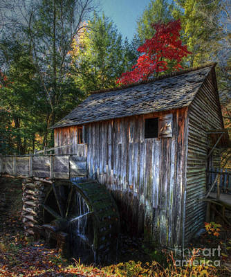 Photograph - Old Mill In Fall  by Dave Bosse