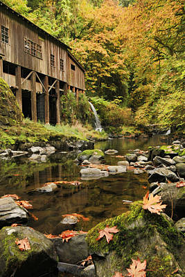 Photograph - Old Mill In Fall by Steve McKinzie