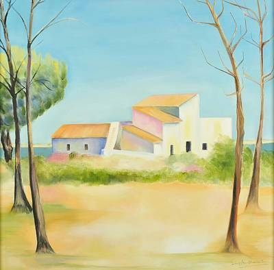 Old Mill Scenes Painting - Old Mill In The Algarve by Jenny anne Morrison