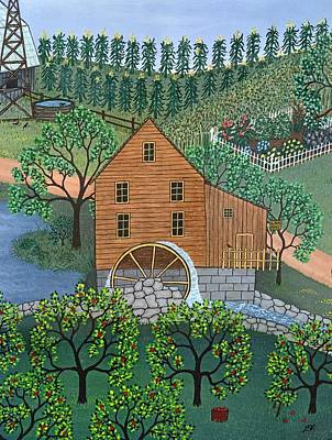 Farm Painting - Old Mill by Linda Mears