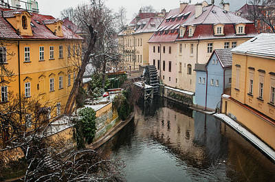 Photograph - Old Mill. Little Prague Venice. March Snowfall by Jenny Rainbow