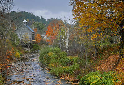 Robert Bellomy Royalty-Free and Rights-Managed Images - Old Mill New England by Robert Bellomy
